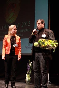 Maria Rankka (Stockholms handelskammare) och Celal Alparslan (Bistro Hijazz) Foto: Wai-Man Cheung